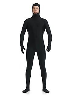 Costume Zentai Costum Ninja Zentai Costume Cosplay Negru Mată Leotard/Onesie Zentai Spandex Lycra Unisex Halloween