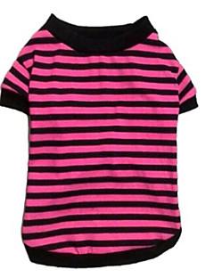 ネコ 犬 Tシャツ 犬用ウェア カジュアル/普段着 ストラップ柄 ホワイト イエロー ピンク