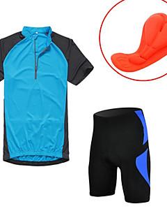 KORAMAN Sykkeljersey med shorts Herre Kort Erme Sykkel Fôrede shorts Jersey Tights Klessett TopperFort Tørring Ultraviolet