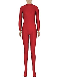 Zentai Suits Ninja Zentai Cosplay Costumes Red Solid Leotard/Onesie Zentai Spandex Lycra Unisex Halloween