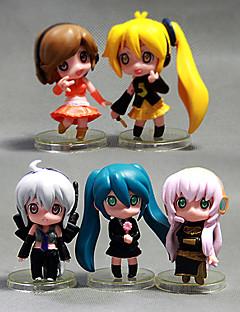 billige Anime cosplay-Anime Action Figurer Inspirert av Cosplay Hatsune Miku PVC 5 cm CM Modell Leker Dukke