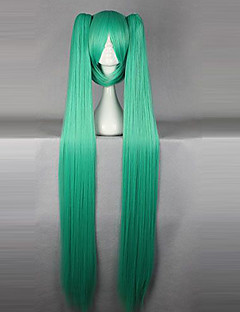 cheap Videogame Cosplay Wigs-Cosplay Wigs Vocaloid Hatsune Miku Anime/ Video Games Cosplay Wigs 130 CM Heat Resistant Fiber Women's