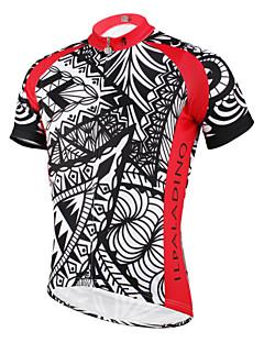 ILPALADINO Pyöräily jersey Miesten Lyhythihainen Pyörä Jersey Topit Nopea kuivuminen Ultraviolettisäteilyn kestävä Hengittävä Takatasku
