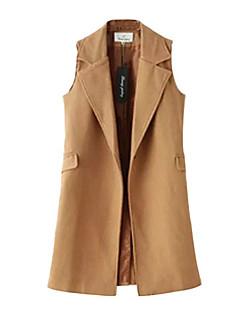 Χαμηλού Κόστους Classic Vests-Γυναικεία Veste Κομψό στυλ street-Μονόχρωμο
