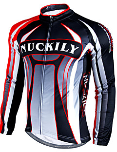 cheap Cycling Jackets-Nuckily Cycling Jacket Men's Long Sleeves Bike Jersey Top Winter Fleece Bike Wear Waterproof Thermal / Warm Windproof Rain-Proof