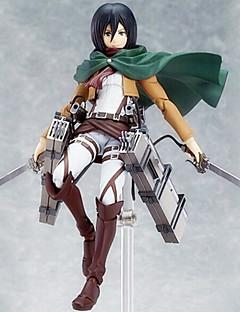 Anime Action Figurer Inspirert av Sword Art Online Mikasa Ackermann 15 CM Modell Leker Dukke