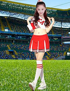 Cheerleader-asut Asusteet Lasten Suoritus Polyesteri Laskostettu 2 osainen Pitkä hiha Korkea Toppi Hame