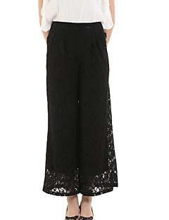 お買い得  レディースパンツ-女性用 ストリートファッション ワイドレッグ ジーンズ パンツ ソリッド