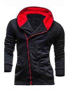 baratos Abrigos e Moletons Masculinos-Homens Manga Longa Jacket Hoodie Sólido