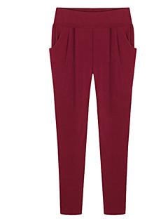 billige Plusstørrelser til kvinder på udsalg-Dame Plusstørrelser Tynd Harem Jeans Bukser Ensfarvet