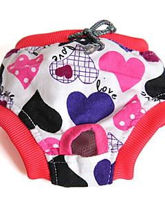 billiga Hundkläder-Katt Hund Byxor Hundkläder Rosett Tecknat Slumpmässig färg Cotton Kostym För husdjur Herr Dam Ledigt/vardag