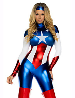 Super Hero Costume Captain Hero Movie Cosplay Halloween Costume Zentai Jumpsuits Halloween costumes for women