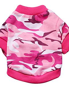 abordables -Chat Chien Tee-shirt Vert Incanardin Vêtements pour Chien Eté Printemps/Automne camouflage Mode