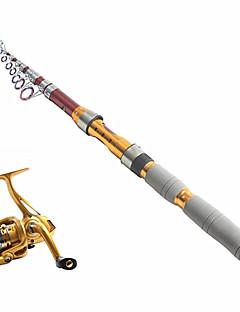 お買い得  フィッシング用ツール-釣り竿 + リール 釣り竿 テレスピンロッド テレスピンロッド 炭素 海釣り 釣り竿 + リール