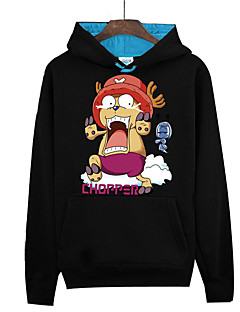 baratos -Inspirado por One Piece Monkey D. Luffy Anime Fantasias de Cosplay Hoodies cosplay Estampado Manga Longa Blusa Para Unisexo
