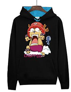 Inspirado por One Piece Monkey D. Luffy Anime Fantasias de Cosplay Hoodies cosplay Estampado Manga Longa Blusa Para Unisexo