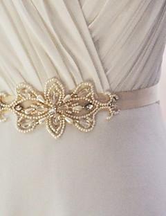 結婚式 パーティー/フォーマル 日常着 サッシュ With ビーズ アップリケ 真珠