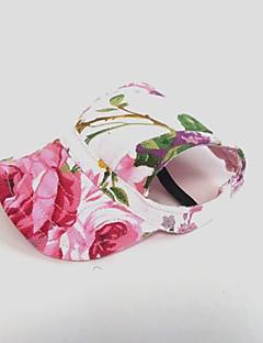billiga Hundkläder-Katt Hund Snusnäsdukar och mössor Hundkläder Blomma Rosa Nylon Kostym För husdjur Dam Semester