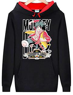 baratos Fantasias Anime-Inspirado por One Piece Monkey D. Luffy Anime Fantasias de Cosplay Hoodies cosplay Estampado Manga Longa Blusa Para Homens
