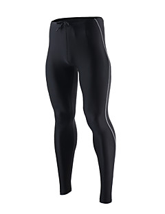 Arsuxeo Herre Tights til jogging Treningstights Fort Tørring Pustende Myk Komprimering Refleksbånd Reduserer gnaging Tights Bunner Yoga &