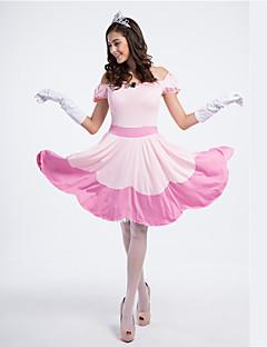 Prinsessa Satuteema Cosplay-Asut Naiset Halloween Karnevaali Festivaali/loma Halloween-asut Punastuvan vaaleanpunainen Patchwork