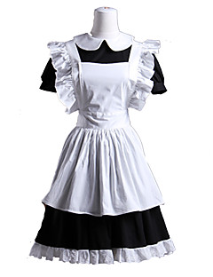 Gothic Lolita Dress Lolita Women's Maid Suits Cosplay White Short Sleeves
