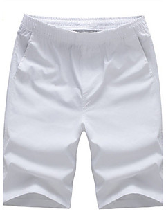 お買い得  メンズパンツ&ショーツ-男性用 ショーツ リラックス パンツ, コットン ソリッド