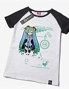 """billige Anime cosplay-Inspirert av Vokaloid Hatsune Miku Anime  """"Cosplay-kostymer"""" Cosplay T-skjorte Trykt mønster Kortermet T-Trøye Til Unisex"""