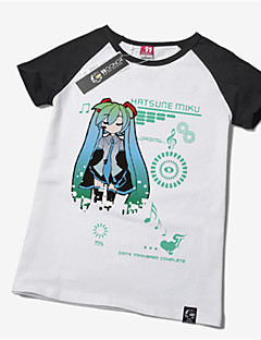 Inspirovaný Vocaloid Hatsune Miku Anime Cosplay kostýmy Cosplay T-shirt Tisk Krátký rukáv Tričko Pro Unisex