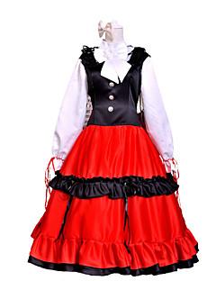 קיבל השראה מ Hetalia Hungary Elizaveta Héderváry אנימה תחפושות קוספליי חליפות קוספליי טלאים שרוול ארוך שמלה כיסוי ראש עבור נקבה