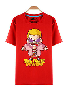 baratos Fantasias Anime-Inspirado por One Piece Roronoa Zoro Anime Fantasias de Cosplay Cosplay T-shirt Estampado Manga Curta Blusa Para Homens / Mulheres Trajes da Noite das Bruxas