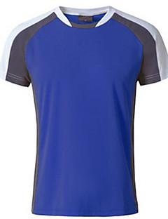 baratos Camisetas para Trilhas-Homens Camiseta de Trilha Ao ar livre Respirável Redutor de Suor Camiseta Blusas Acampar e Caminhar Alpinismo Esportes Relaxantes