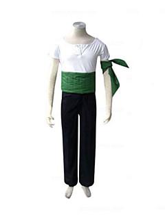 """billige Anime Kostymer-Inspirert av One Piece Roronoa Zoro Anime  """"Cosplay-kostymer"""" Cosplay Klær Lapper Kortermet Bukser / Armbind / Korsett Til Herre Halloween-kostymer"""