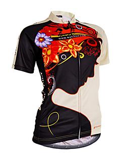 Nuckily サイクリングジャージー 女性用 半袖 バイク ジャージー トップス 抗紫外線 透湿性 ケトルバッグ内蔵 耐久性 高通気性 ソフト サンスクリーン 反射性ストリップ 後ポケット 耐衝撃性の 低摩擦 反射性トリム 超軽量生地 高伸縮性 ホールドフィット
