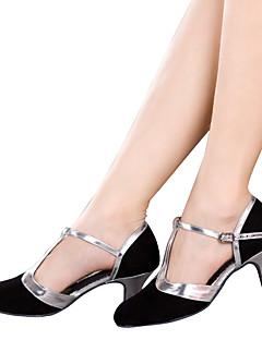 hesapli -Kadın Latince Işıltılı Simler Kadife Sentetik Sandaletler Topuklular Spor Ayakkabı İç Mekan Aplik Payet Fırfırlı Kırma Dantelli Işıltılı