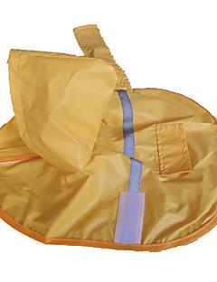billiga Hundkläder-Hund Regnjacka Hundkläder Gul Nylon Kostym För husdjur Vattentät