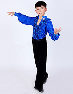 Shall We Latin Dance Outfits Children Performance Spandex / Polyester Fashion 2 Pieces Boy Dance Costumes