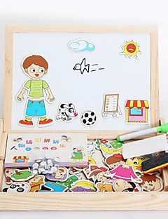 자석 장난감 조각 MM 자석 장난감 직쏘 퍼즐 애니멀 집행 장난감 퍼즐 큐브 선물