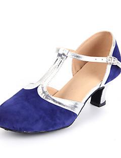 Χαμηλού Κόστους -Γυναικεία Μοντέρνα παπούτσια / Αίθουσα χορού Σουέτ Τακούνια Ραμμένη Δαντέλα Κουβανικό Τακούνι Μη Εξατομικευμένο Παπούτσια Χορού / Δέρμα