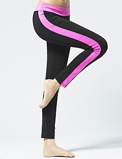billiga Träning-, jogging- och yogakläder-CONNY Dam Svart / vit, Svart / Rosa sporter Lappverk Byxa Yoga, Pilates, Motion & Fitness Sportkläder Andningsfunktion Elastisk