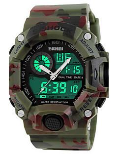billige Digitalure-SKMEI Herre Sportsur / Armbåndsur / Digital Watch Alarm / Kalender / Kronograf Gummi Bånd Luksus / camouflage / Vandafvisende / Selvlysende / LCD / Dobbelte Tidszoner / Stopur