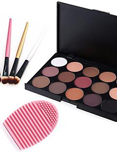 15ØjenskyggerBørstetasker og rensemidler Makeupbørster Tør Mat Glans ØjneGlitter glans (gloss) Potte Glasur Dekning Længerevarende