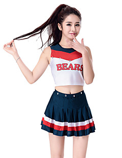 cheap Cheerleader Costumes-Cheerleader Costumes Outfits Women's Performance European Style Pleated Dance Costumes