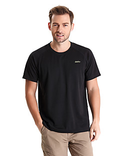cheap Hiking T-shirts-Men's Hiking T-shirt Outdoor Quick Dry Wearable Breathable T-shirt Top Camping / Hiking Fishing Climbing Exercise & Fitness Leisure