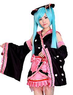 """billige Anime Kostymer-Inspirert av Vokaloid Hatsune Miku video Spill  """"Cosplay-kostymer"""" Cosplay Klær Lapper Kimono Frakke"""
