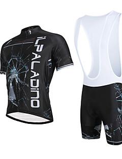 ILPALADINO Sykkeljersey med bib-shorts Herre Unisex Kort Erme Sykkel Sykkelshorts Med Seler Jersey KlessettFort Tørring Ultraviolet