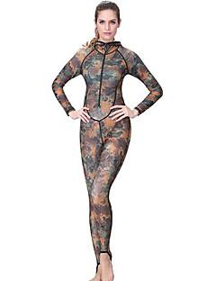 女性用 ダイブスキンスーツ 抗紫外線 ビデオ圧縮 フルボディー タクテル ダイビングスーツ 潜水 シュノーケリング