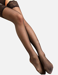 cheap Socks & Hosiery-Women's Thin Stockings, Cotton Spandex Others Patchwork White Black Nude