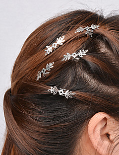 Women Casual Hollow Snowflake Pattern Hairpin Hair Clips Alloy Hair Accessories 5 Piece