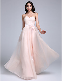 cheap -A-Line Sweetheart Floor Length Lace Tulle Prom / Formal Evening Dress with Lace by TS Couture®